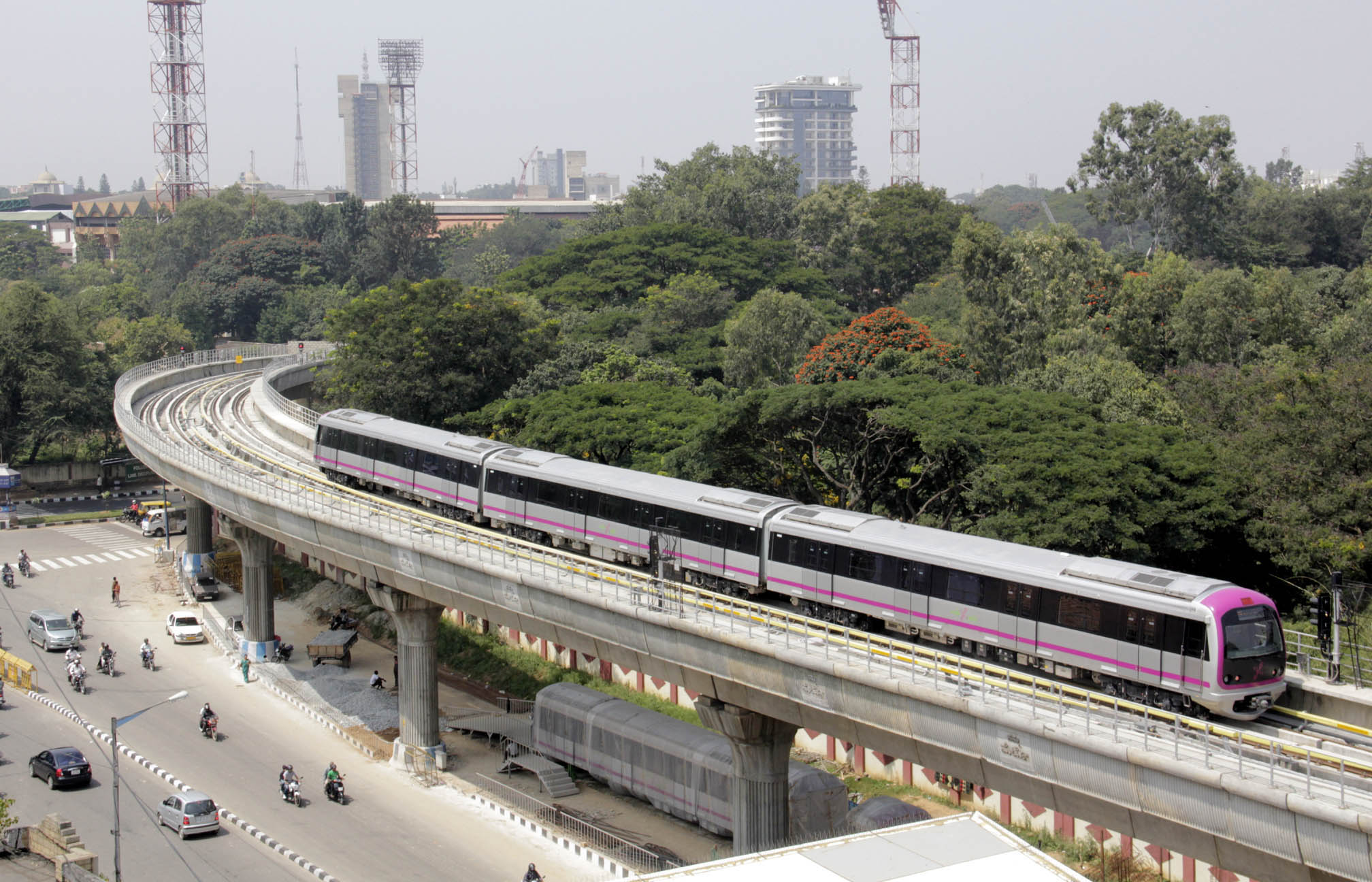 introduction of metro train Noida metro rail corporation ltd is s developing a metro rail system connecting twin cities noida and greater noida.
